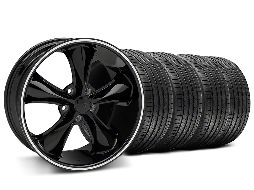 Foose Legend Black Wheel & Sumitomo Tire Kit - 18x8.5 (05-10 GT, V6)
