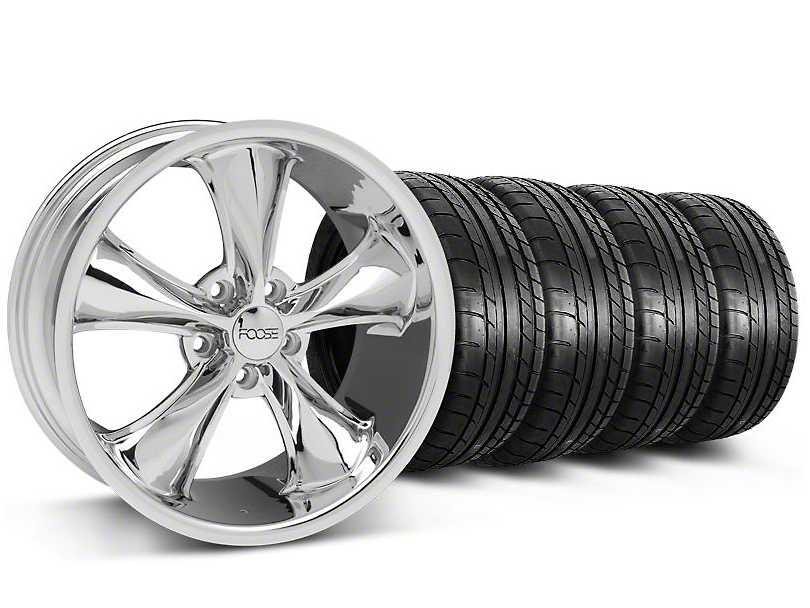 Foose Legend Chrome Wheel & Mickey Thompson Tire Kit - 18x8.5 (05-10 GT, V6)