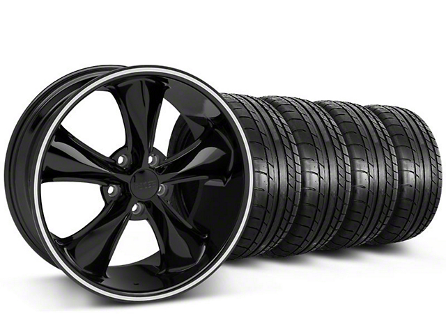 Foose Legend Black Wheel & Mickey Thompson Tire Kit - 18x8.5 (05-10 GT, V6)