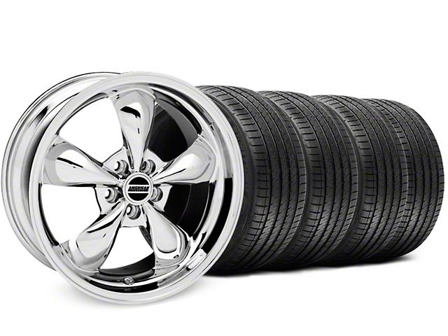 Bullitt Chrome Wheel & Sumitomo Tire Kit - 17x9 (87-93 w/ 5 Lug Conversion)
