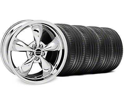 Bullitt Chrome Wheel & Sumitomo Tire Kit - 17x9 (87-93 w/ 5 Lug Conversion)