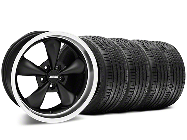 Bullitt Matte Black Wheel & Sumitomo Tire Kit - 17x9 (87-93 5 Lug Conversion)