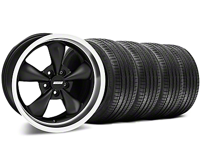 Bullitt Matte Black Wheel & Sumitomo Tire Kit - 17x9 (87-93 w/ 5 Lug Conversion)
