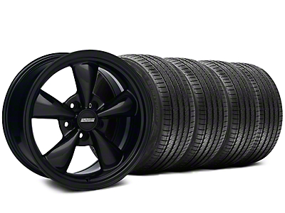 Bullitt Solid Black Wheel & Sumitomo Tire Kit - 17x9 (87-93 w/ 5 Lug Conversion)