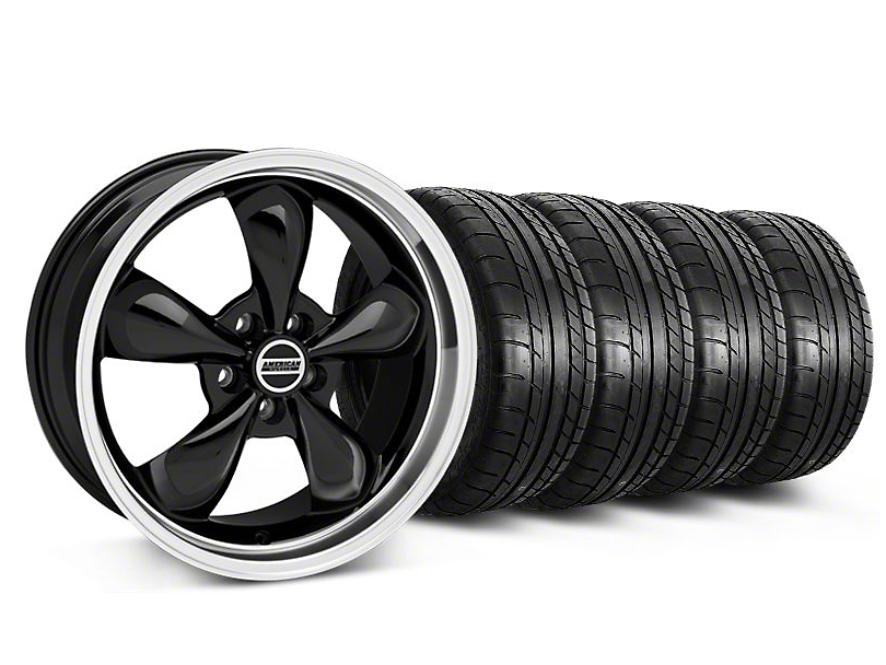 Bullitt Black Wheel and Mickey Thompson Tire Kit; 17x9 (87-93 w/ 5 Lug Conversion)