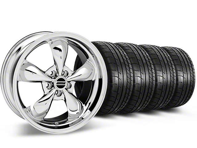 Bullitt Chrome Wheel & Mickey Thompson Tire Kit - 17x9 (87-93 w/ 5 Lug Conversion)