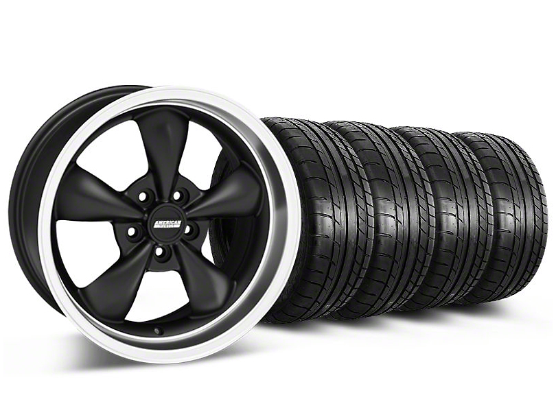 Bullitt Matte Black Wheel & Mickey Thompson Tire Kit - 17x9 (87-93 w/ 5 Lug Conversion)