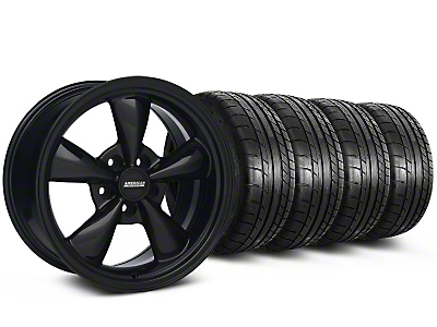 Bullitt Solid Black Wheel & Mickey Thompson Tire Kit - 17x9 (87-93 w/ 5 Lug Conversion)