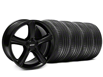 2010 GT Premium Style Black Wheel & Sumitomo Tire Kit - 18x9 (87-93 w/ 5 Lug Conversion)