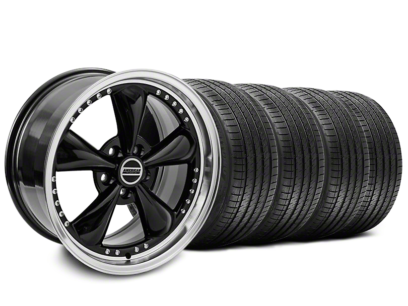 Bullitt Motorsport Black Wheel & Sumitomo Tire Kit - 18x9 (87-93 5 Lug Conversion)
