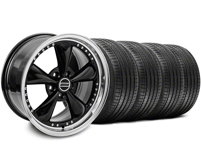 Bullitt Motorsport Black Wheel & Sumitomo Tire Kit - 18x9 (87-93 5 Lug Conversion)