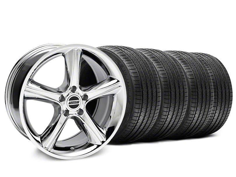 2010 GT Premium Style Chrome Wheel & Sumitomo Tire Kit - 18x9 (87-93 w/ 5 Lug Conversion)