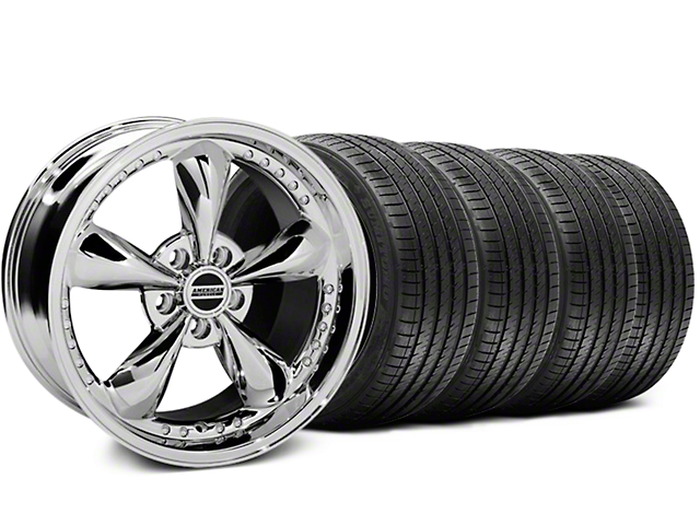 Bullitt Motorsport Chrome Wheel & Sumitomo Tire Kit - 18x9 (87-93 5 Lug Conversion)