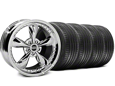 Bullitt Motorsport Chrome Wheel & Sumitomo Tire Kit - 18x9 (87-93 w/ 5 Lug Conversion)