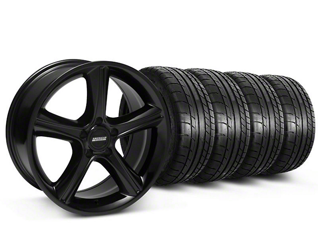 2010 GT Premium Style Black Wheel & Mickey Thompson Tire Kit - 18x9 (87-93 w/ 5 Lug Conversion)