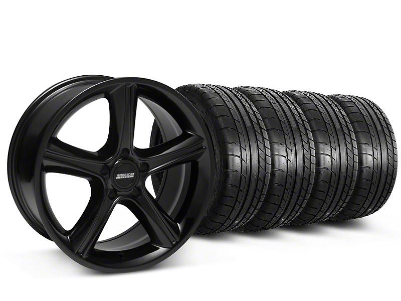 2010 GT Premium Style Black Wheel & Mickey Thompson Tire Kit - 18x9 (87-93 5 Lug Conversion)