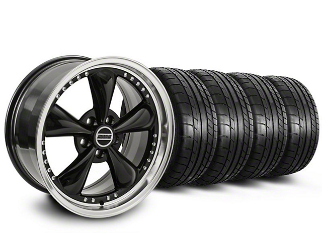 Bullitt Motorsport Black Wheel & Mickey Thompson Tire Kit - 18x9 (87-93 w/ 5 Lug Conversion)