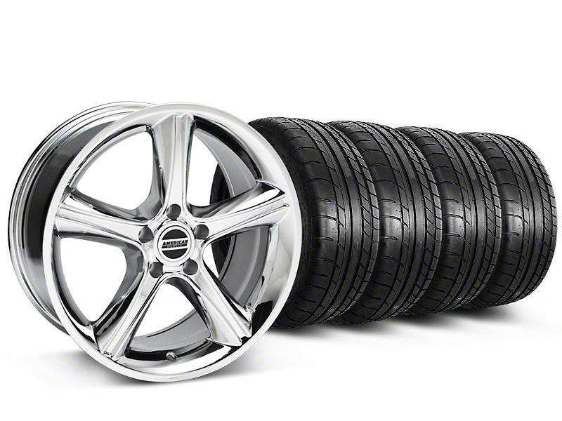 2010 GT Premium Style Chrome Wheel & Mickey Thompson Tire Kit - 18x9 (87-93 5 Lug Conversion)