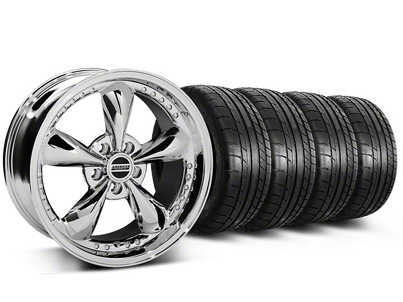 Bullitt Motorsport Chrome Wheel & Mickey Thompson Tire Kit - 18x9 (87-93 5 Lug Conversion)