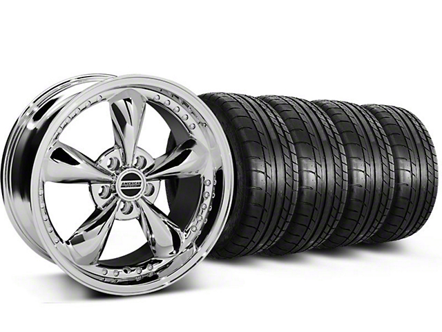 Bullitt Motorsport Chrome Wheel & Mickey Thompson Tire Kit - 18x9 (87-93 w/ 5 Lug Conversion)