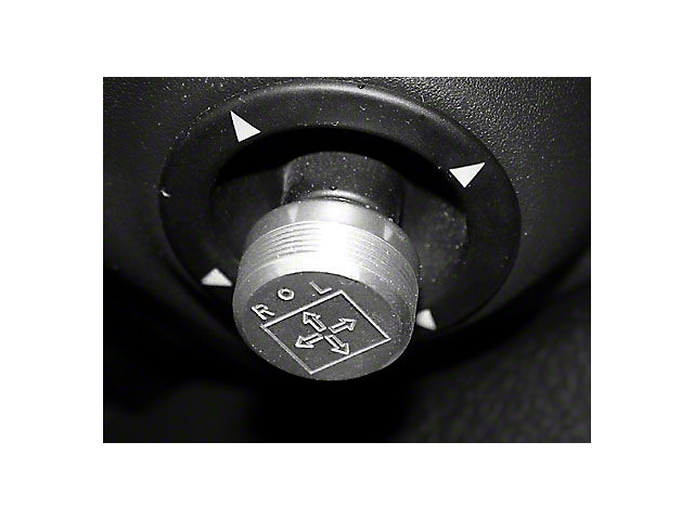 SHR Mirror Control Knob; Satin (05-09 All)