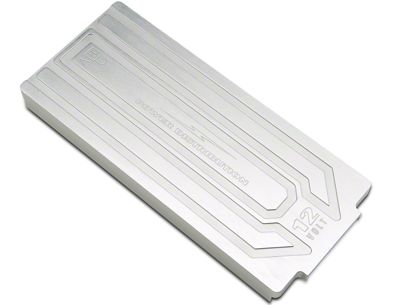 SHR Fuse Box Cover; Brushed Satin (10-14 All)