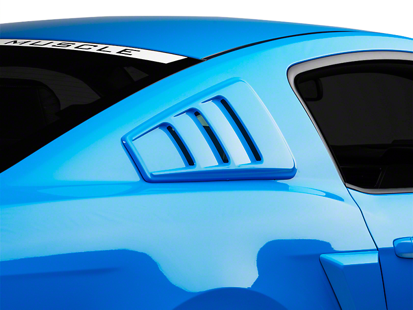 Roush Quarter Window Louvers; Unpainted (05-14 Coupe)