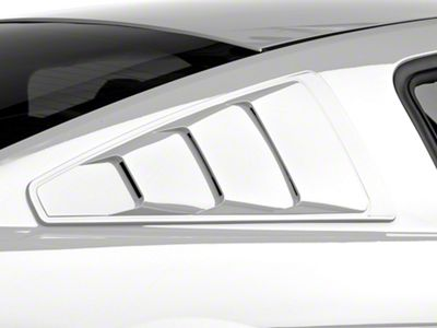 MMD Pre-Painted Quarter Window Louvers - Black (05-14 Coupe)