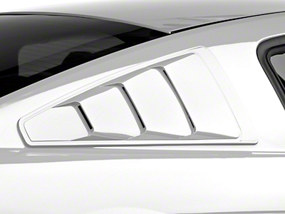 MMD Pre-Painted Quarter Window Louvers - Performance White (05-14 All)
