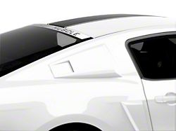 MMD Eleanor Style Window Scoops; Unpainted (05-14 Coupe)