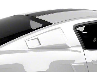 For 2005-2014 Ford Mustang Black Vent 1//4 Quarter Side Window Louver Cover