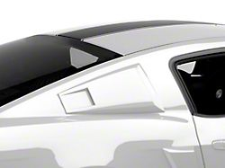 MMD Eleanor Style Window Scoops; Pre-Painted; Black (05-14 Coupe)
