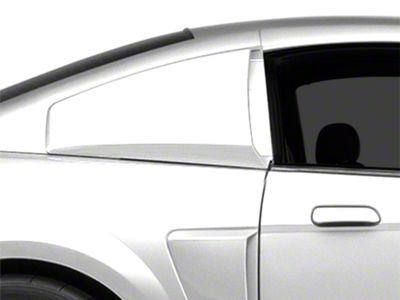 MMD Pre-Painted Quarter Window Louvers - Black (99-04 Coupe)