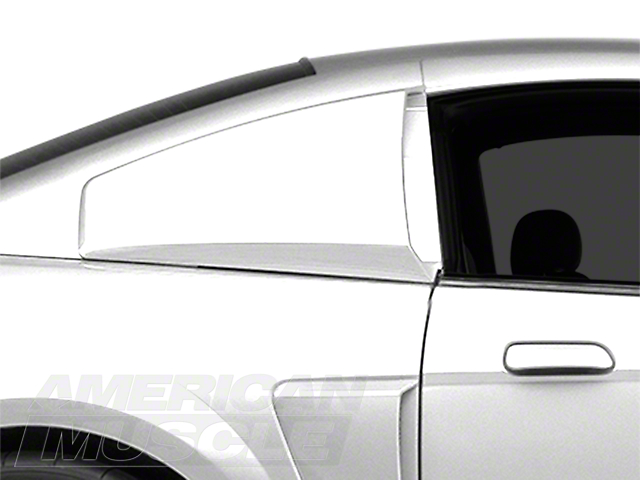 MMD Quarter Window Scoops; Unpainted (99-04 Coupe)