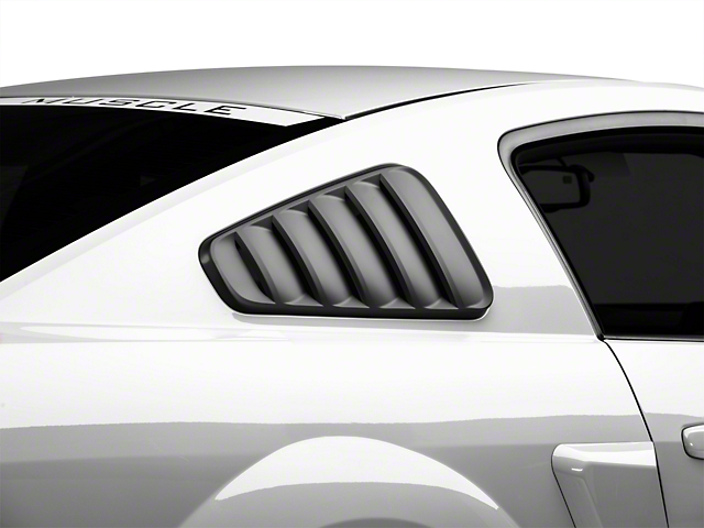 SpeedForm Classic Quarter Window Louvers; Matte Black (05-09 Coupe)