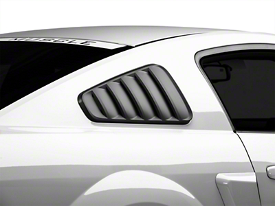 SpeedForm Classic Quarter Window Louvers - Matte Black (05-09 Coupe)
