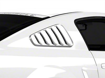 SpeedForm Pre-Painted Classic Quarter Window Louvers - Black (05-09 All)