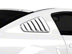SpeedForm Classic Quarter Window Louvers; Pre-Painted; Black (05-09 Coupe)