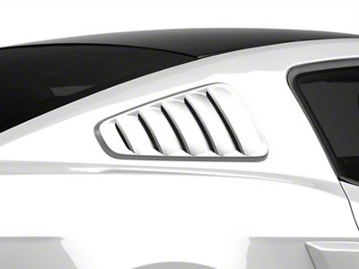 SpeedForm Pre-Painted Classic Quarter Window Louvers - Black (10-14 Coupe)