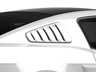 SpeedForm Pre-Painted Classic Quarter Window Louvers - Ingot Silver Metallic (10-14 All)