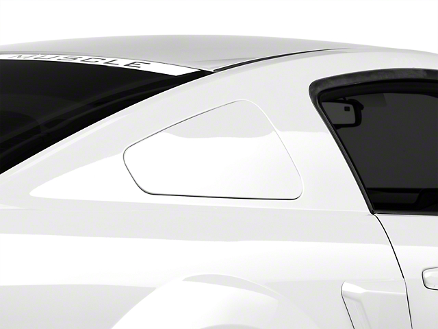 MMD GT350 Style Window Covers; Unpainted (05-09 Coupe)
