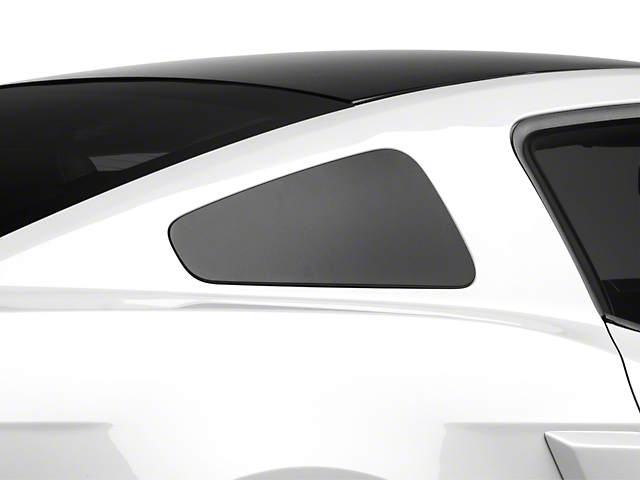 MMD GT350 Style Window Covers; Matte Black (10-14 Coupe)