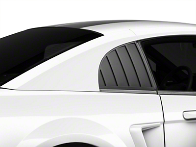 MMD Quarter Window Louvers - Matte Black (99-04 GT, V6, Cobra)