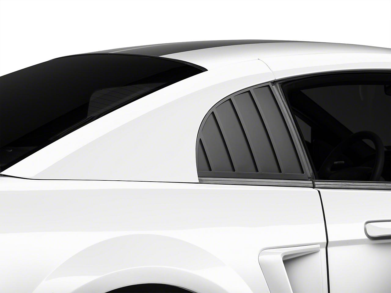 MMD Quarter Window Louvers - Matte Black (99-04 GT, V6, Cobra)