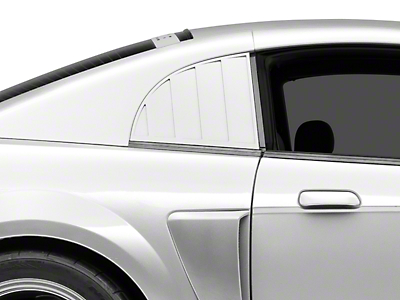 MMD Quarter Window Louvers - Pre-painted (99-04 GT, V6, Cobra)