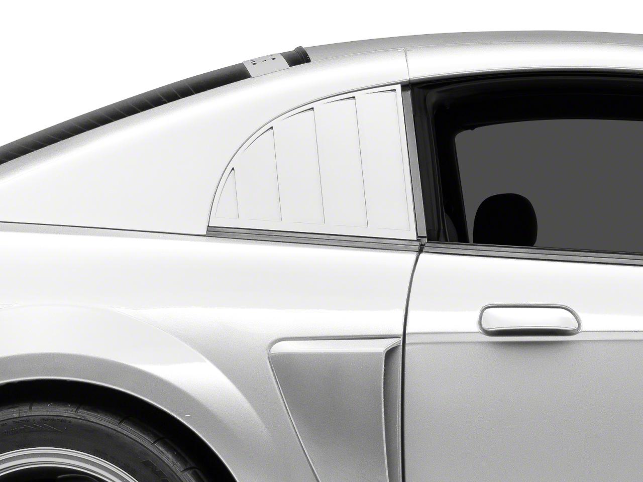 MMD Quarter Window Louvers - Pre-painted (99-04 GT, V6, Cobra)
