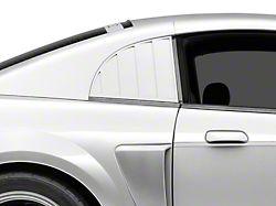 MMD Quarter Window Louvers; Pre-Painted (99-04 GT, V6, Cobra)
