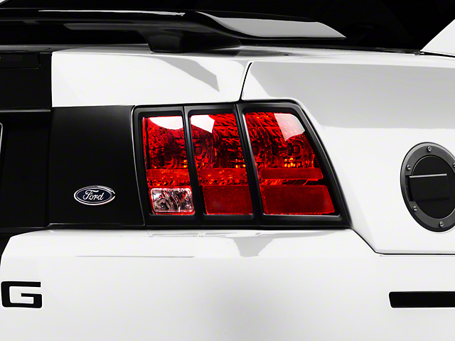 MMD Tail Light Trim; Matte Black (99-04 All)