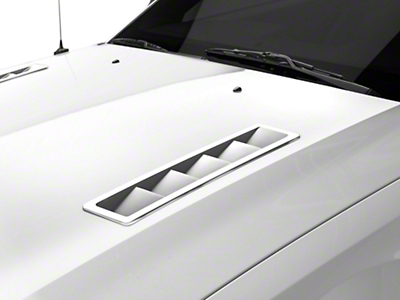 MMD Pre-Painted Hood Vents - Black (05-09 GT, V6)