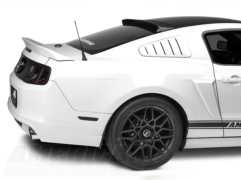 mmd mustang roof spoiler matte black 71336 99 05 14. Black Bedroom Furniture Sets. Home Design Ideas